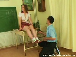 BravoTube Sex Video - Alluring Schoolgirl Pleases Her Horny Teacher In Class